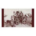 Soldados de WWI en caretas antigás Tarjetas De Visita
