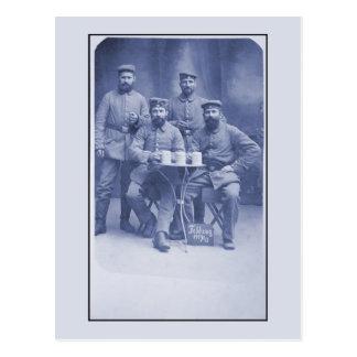 Soldados del alemán de la foto de la guerra mundia postal