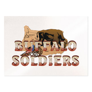 Soldados del búfalo de ABH Plantilla De Tarjeta Personal