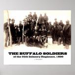 Soldados del búfalo del 25to regimiento póster