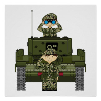 Soldados del ejército británico e impresión del ta poster