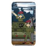 Soldados del ejército británico y caso de iTouch d Barely There iPod Fundas