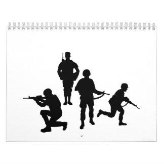 Soldados del ejército calendarios de pared