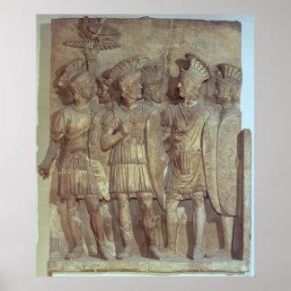 Soldados del guardia pretoriano alivio posters