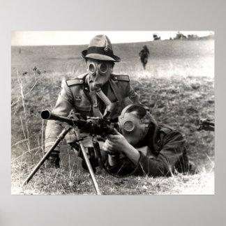 Soldados del italiano de WWII Posters