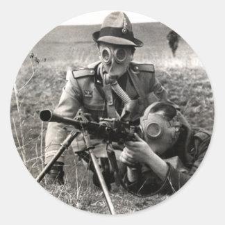 Soldados del italiano de WWII Pegatina Redonda