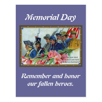 Soldados del Memorial Day Postal