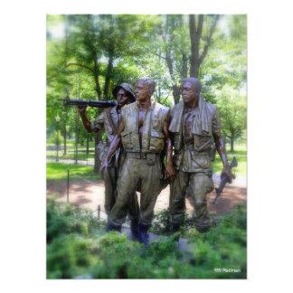 Soldados del monumento de los veteranos de Vietnam Impresion Fotografica