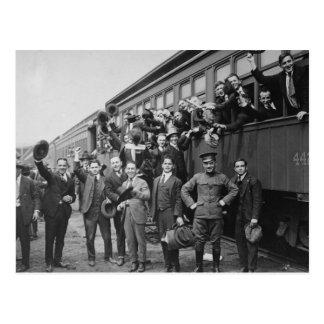 Soldados dirigidos para acampar Upton durante Postal