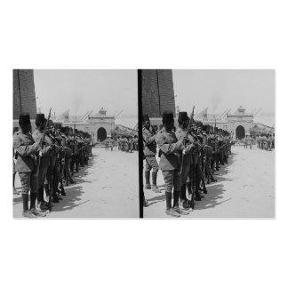 Soldados egipcios en la ciudadela, El Cairo c.1900 Plantillas De Tarjetas Personales