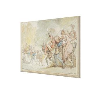 Soldados el de marzo de 1805 (pluma y tinta y wate impresión en lona estirada
