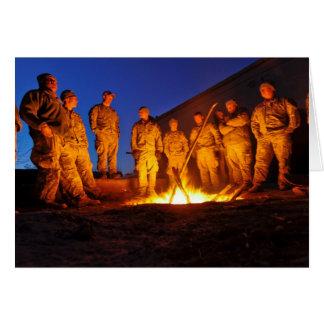 Soldados en Afganistán Tarjeta De Felicitación