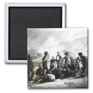 Soldados en la Crimea, c.1855 Imán Cuadrado