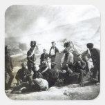 Soldados en la Crimea, c.1855 Pegatina Cuadrada