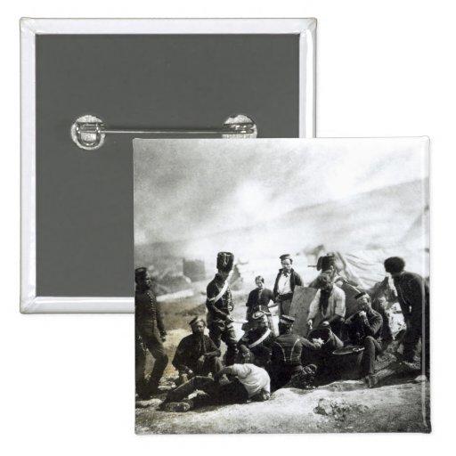 Soldados en la Crimea, c.1855 Pin Cuadrada 5 Cm