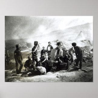 Soldados en la Crimea, c.1855 Póster