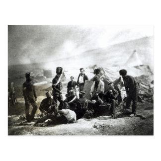 Soldados en la Crimea, c.1855 Postal