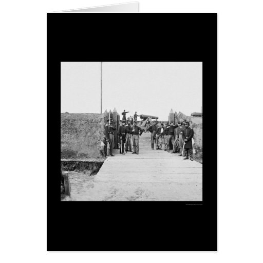 Soldados en la puerta del fuerte Slemmer 1865 Tarjeta De Felicitación