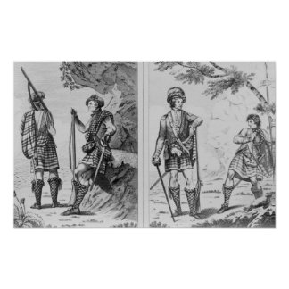 Soldados escoceses de las montañas y impresiones