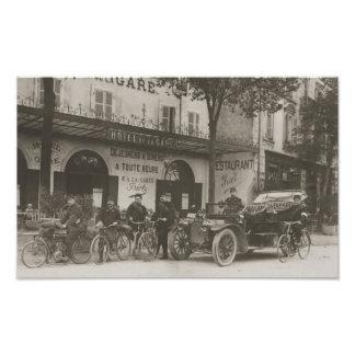 Soldados franceses, coche, moto fotografía