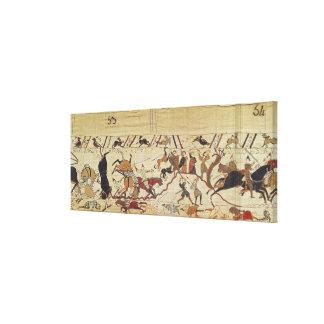 Soldados ingleses y franceses impresiones de lienzo