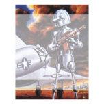 Soldados militares del robot de la ciencia ficción membrete