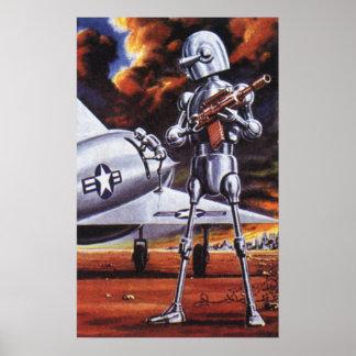 Soldados militares del robot de la ciencia ficción poster