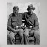 Soldados negros de la guerra civil, 1860s impresiones