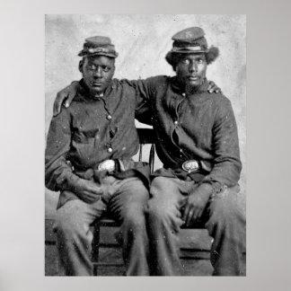 Soldados negros de la guerra civil, 1860s póster