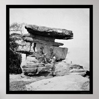 Soldados por la roca del paraguas en Chattanooga,  Póster