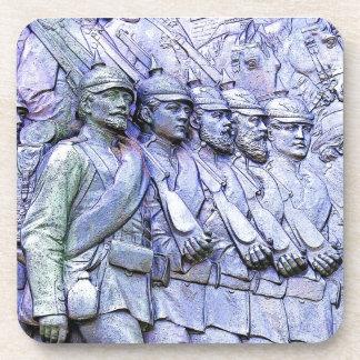Soldados prusianos, (5) que marcha posavasos