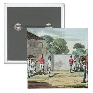 Soldados que perforan, 1807 pin cuadrado