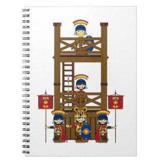 Soldados romanos del centurión del dibujo animado libreta espiral