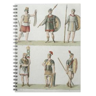 Soldados romanos, detalle de la placa 2, clase 5 d spiral notebook