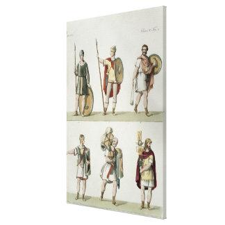 Soldados romanos, detalle de la placa 2, clase 5 d lona estirada galerías