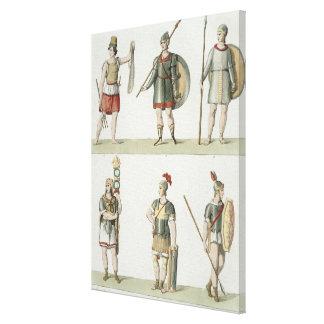 Soldados romanos, detalle de la placa 2, clase 5 d impresion de lienzo