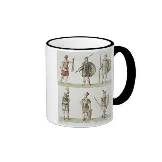 Soldados romanos, detalle de la placa 2, clase 5 d taza de café