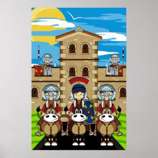Soldados romanos en el poster de la torre