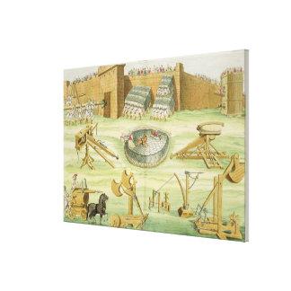 Soldados romanos que sitian una ciudad, placa 23B, Lona Envuelta Para Galerías