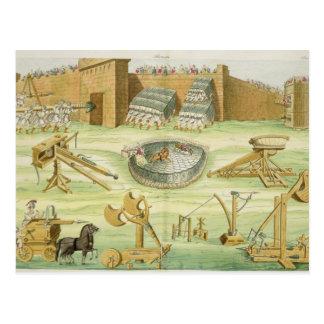 Soldados romanos que sitian una ciudad, placa 23B, Postales