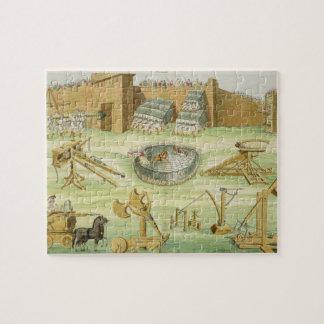 Soldados romanos que sitian una ciudad, placa 23B, Puzzles