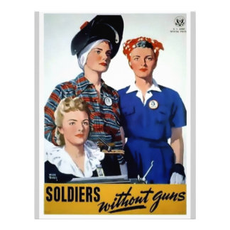 Soldados sin el poster del vintage de los armas membrete a diseño
