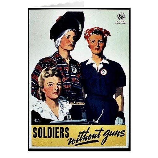Soldados sin los armas tarjeton