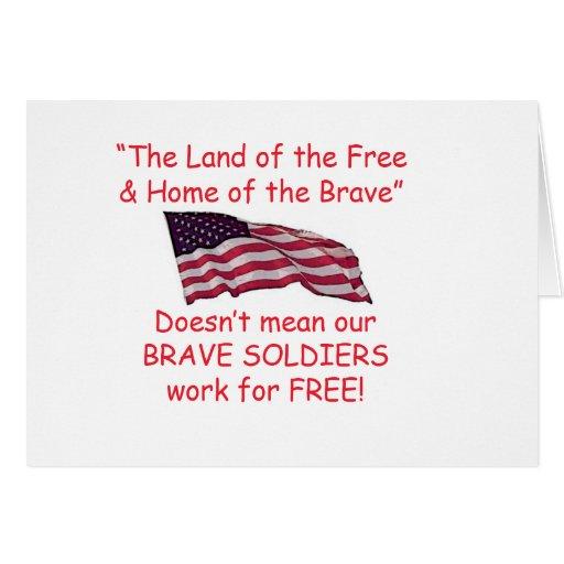 Soldados valientes tarjeta de felicitación
