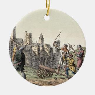 Soldados y artillería del siglo XV, placa Ornatos