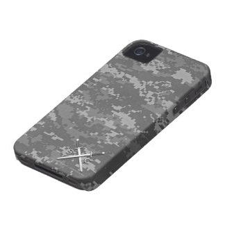 Soldados y comandantes Logo Camouflage Case Case-Mate iPhone 4 Funda