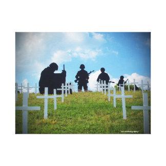 Soldados y cruces lona estirada galerías