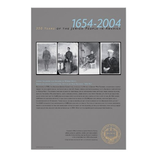Soldados y marineros judíos en WWI Poster