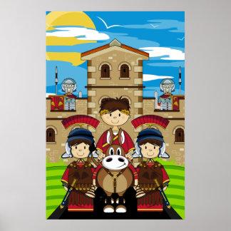 Soldados y poster romanos de César