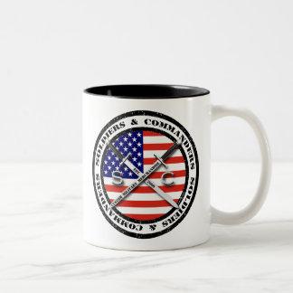Soldados y taza de café de comandantes Circular Lo